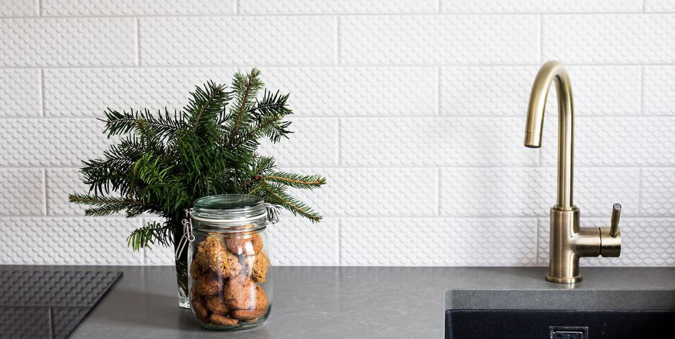 kitchen fraser fir simple evergreens fragrant