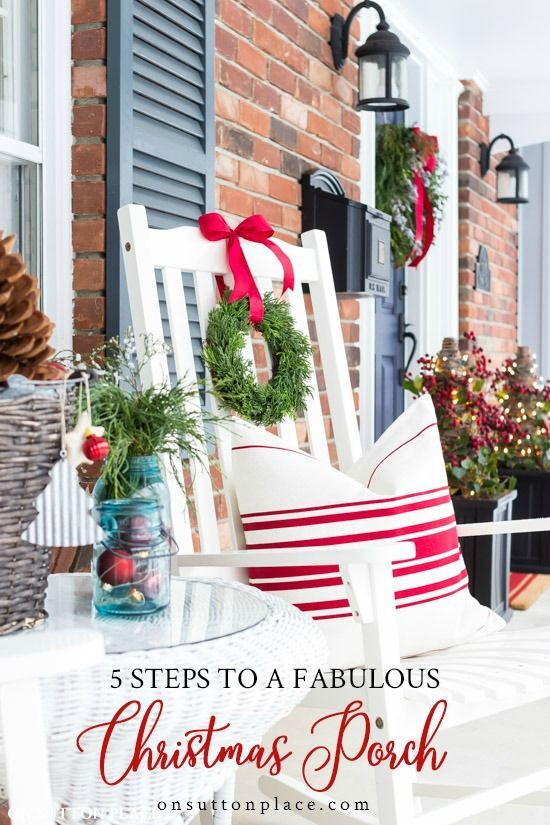 5 steps to a fabulous christmas front porch