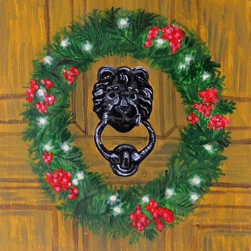 Dickensian lion door knocker