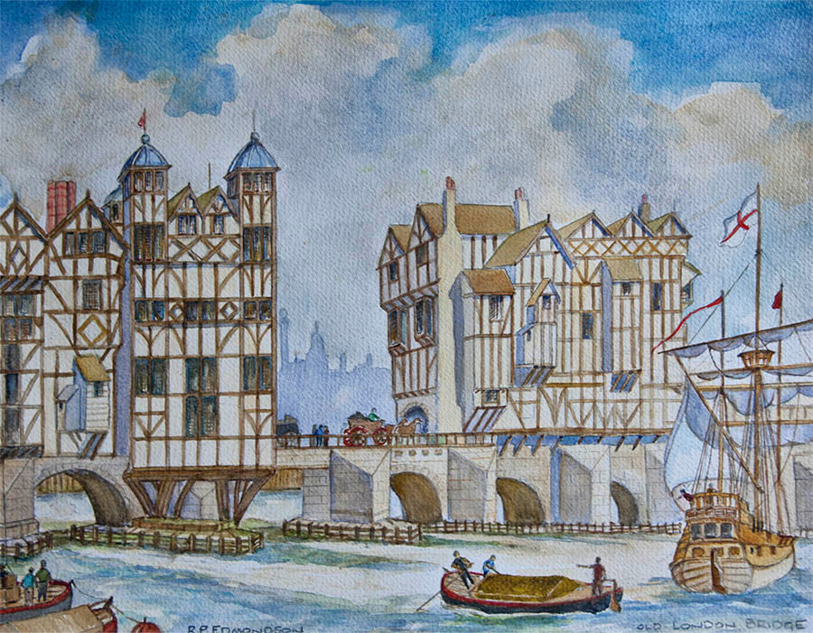 Old London Bridge - copyright Reg Edmondson