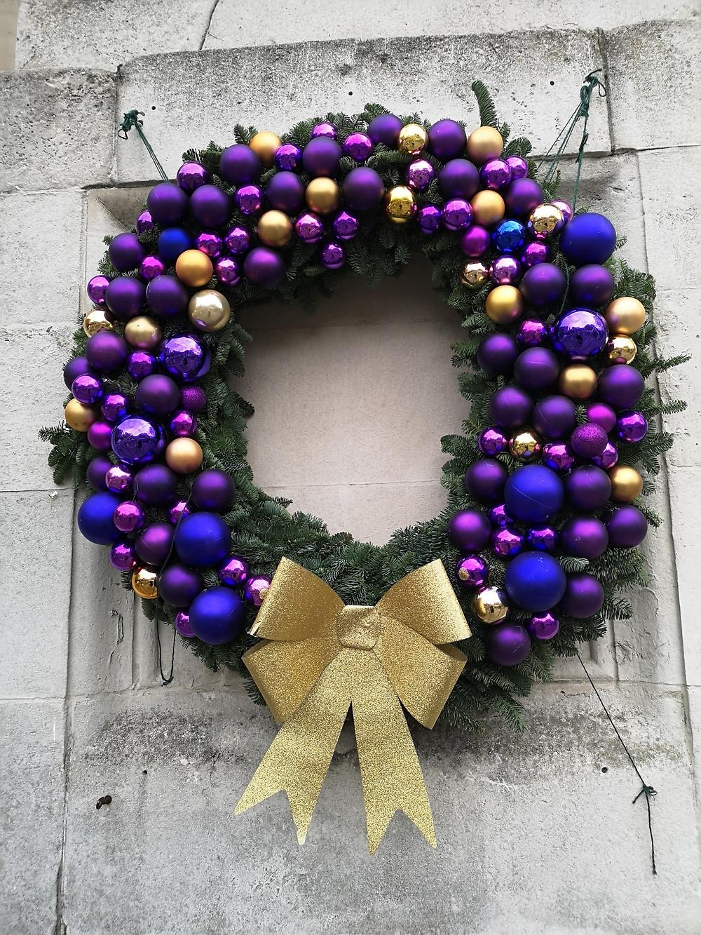 Christ Church Spitalfields Christmas wreath