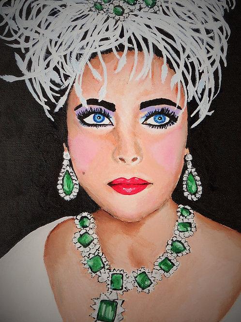 Elizabeth Taylor - A5 fine art greetings card