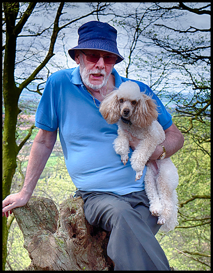 Peter with his faithful dog, Arnie