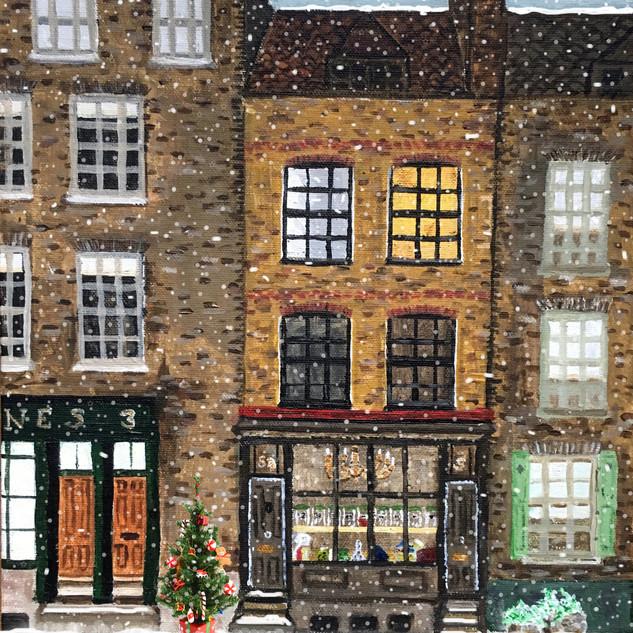 Town House Christmas card