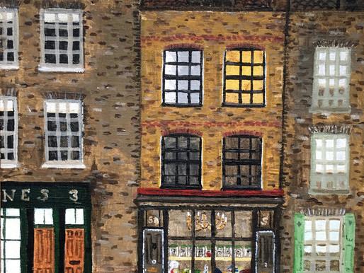 Painting Town House, Fournier Street, E1