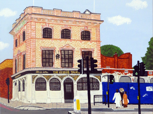 Painting the George Tavern, Commercial Road, E1