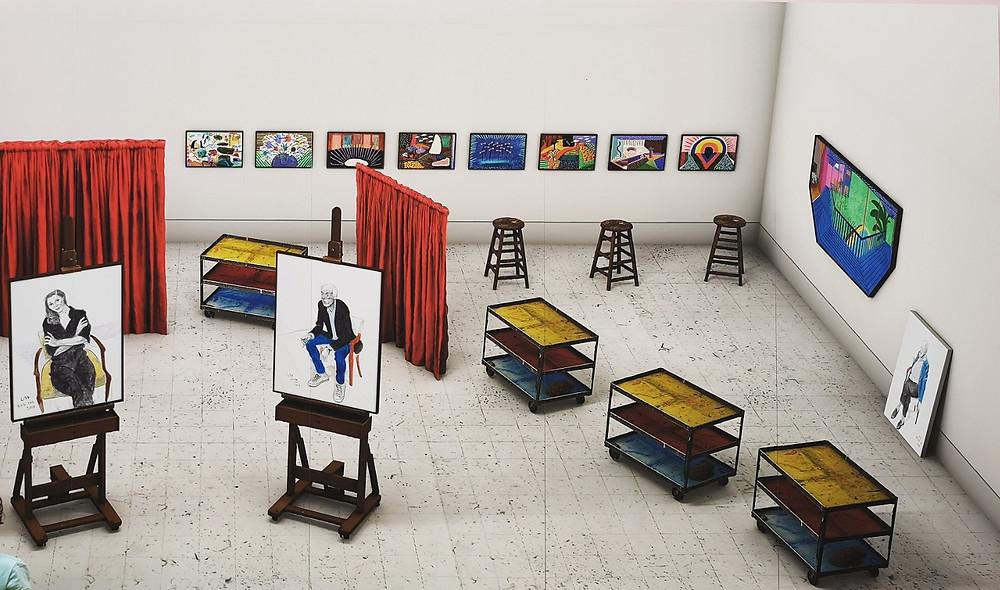 "David Hockney, ""Seven trollies...."""