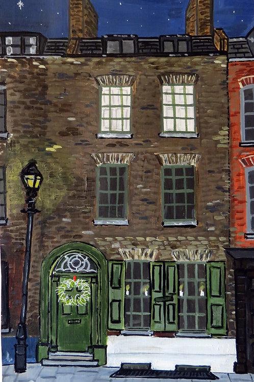 Green door, Wilkes Street