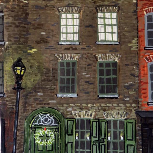 Green door in Wilkes Street