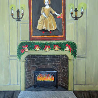 Festive Town House fireplace