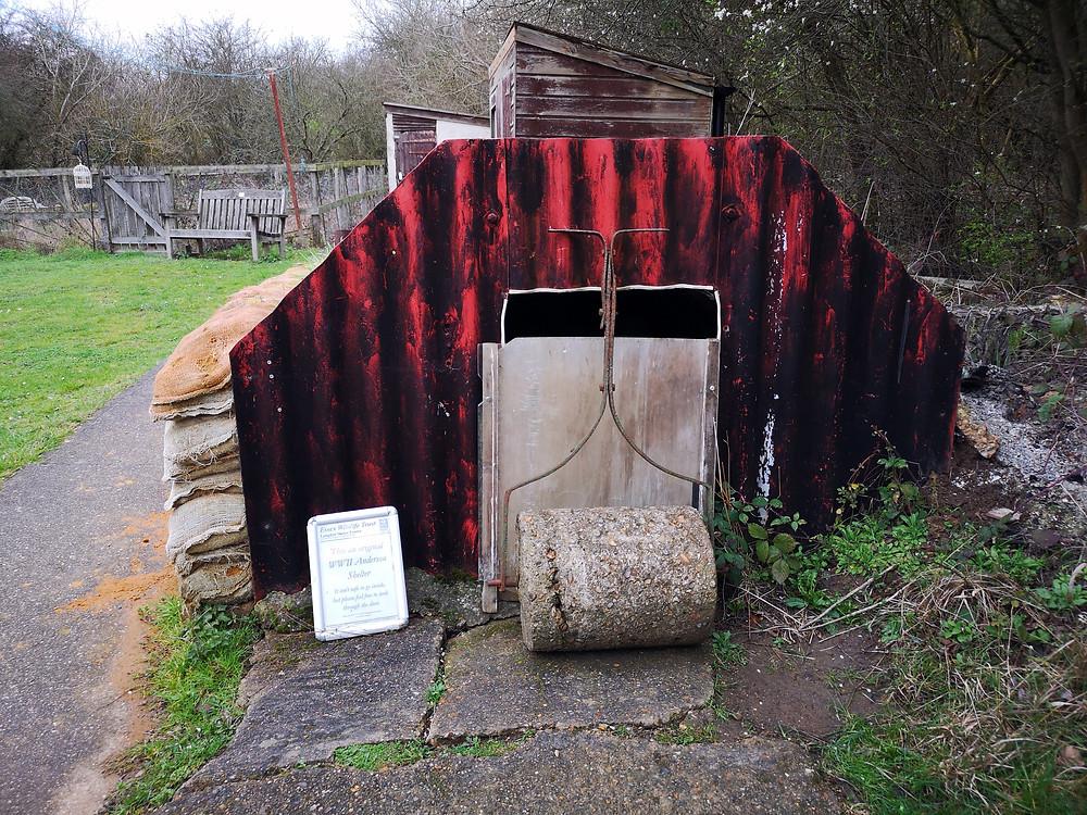 Original air raid shelter at the Haven