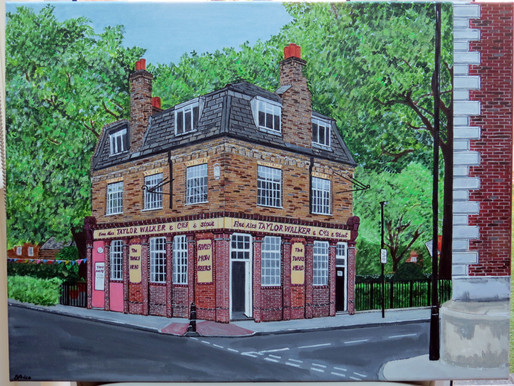 Painting the Turks Head, Wapping