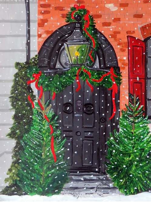 Dennis Severs House Christmas Door
