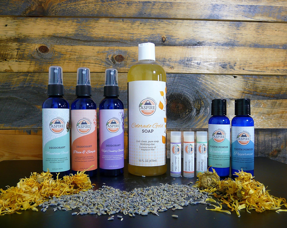 Aspire Liquid Soap and Personal Care Products