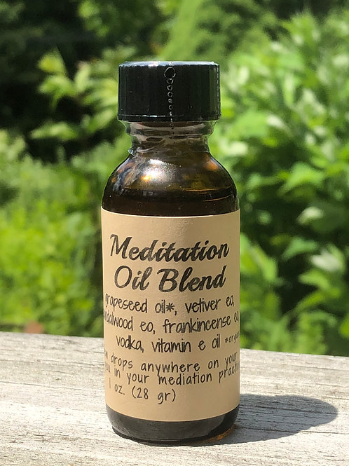 Meditation oil blend