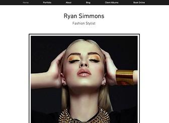 Fashion Stylist Website Template | WIX