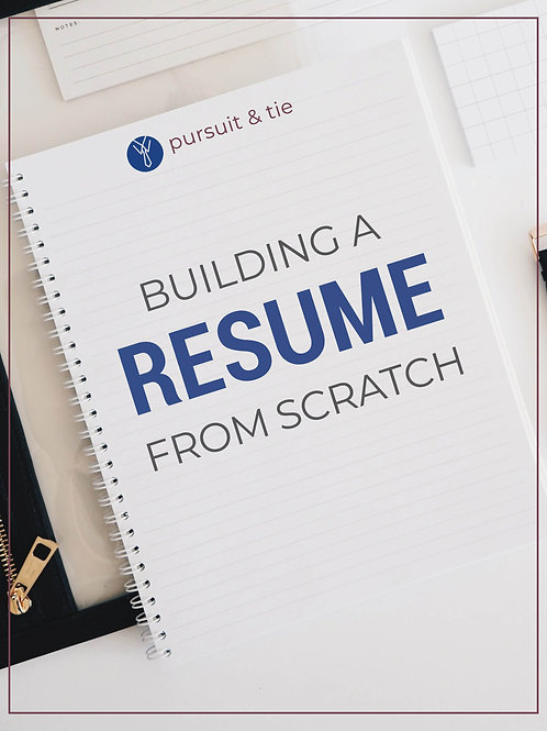 Building A Resume From Scratch
