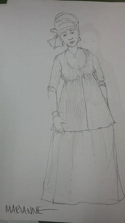 Revolutionists- Rough Sketch Marieanne