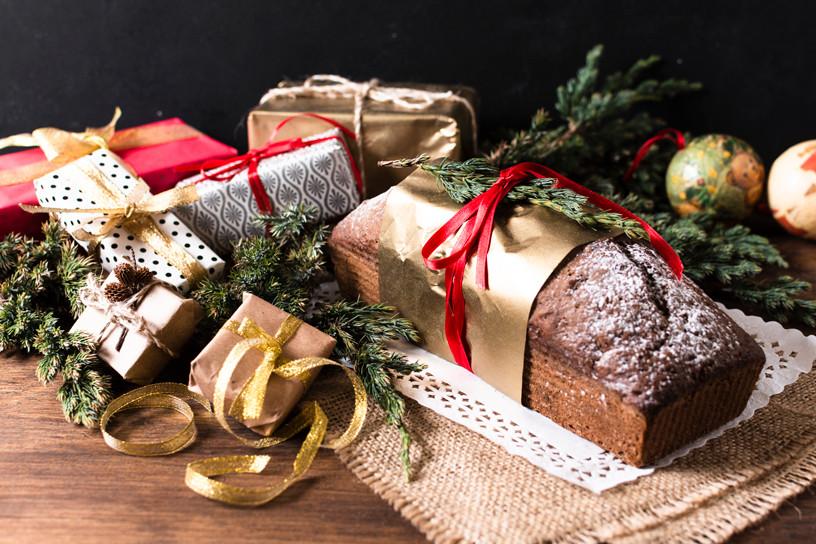Bolo natalino de tapioca