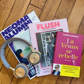 Vénus se rase la tête : Le Parisien, Flush Mag, un podcast. La femme se libère et le fait savoir !