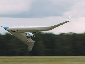 An aeroplane designed to carry passengers in its wings makes a maiden test flight
