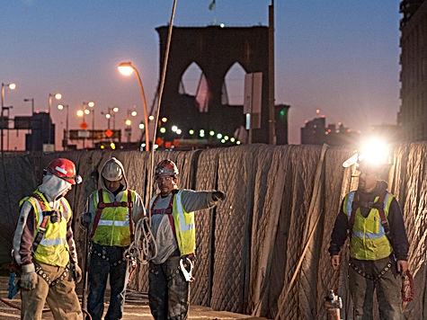 Deck demolition Brooklyn bridge
