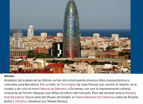 Plaza de las Glóries, barcelona