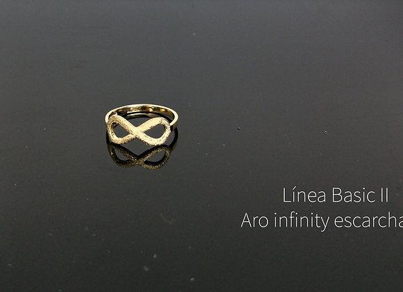Anillo infinity enchapado en oro