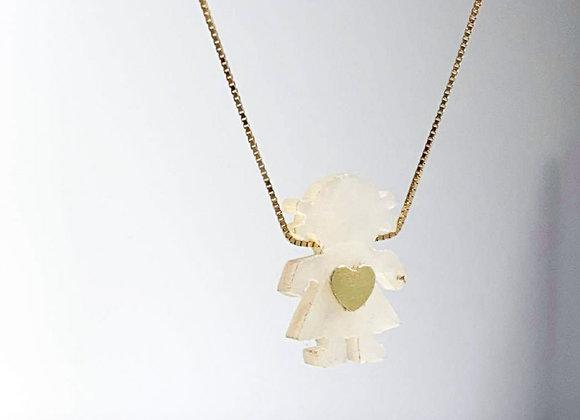 Collar girl corazón gold