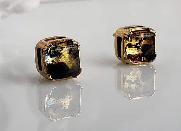 Aretes murano Gold