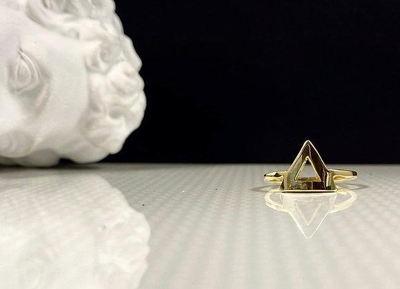Anillo triangulo silver