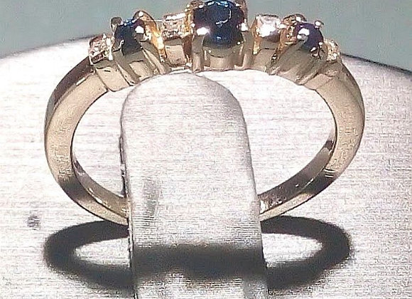 Anillo dúo de zafiros y diamantes square