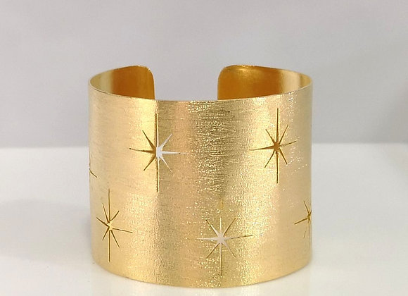 Brazalete  estrella de Belén enchapado en oro