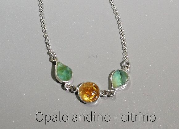 Pulsera 3 Opalo andino y citrino