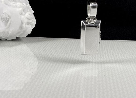 Collar gamuza lingote silver