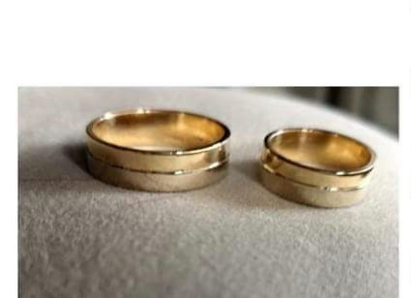 Aros de matrimonio bicolor