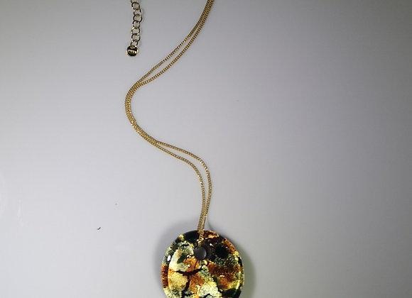 Collar murano c/oro