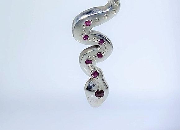 Collar hilo Asclepio rubi