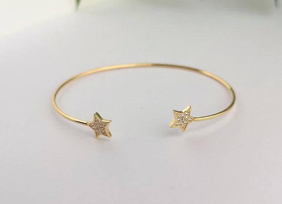 Brazalete slim estrella gold