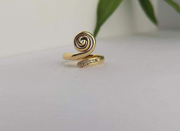 Anillo espiral gold