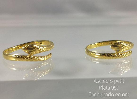 Silver - Asclepio petit enchapado en oro