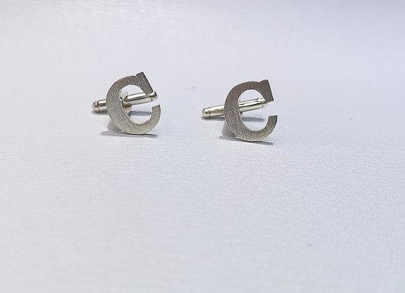Gemelos C silver satinado