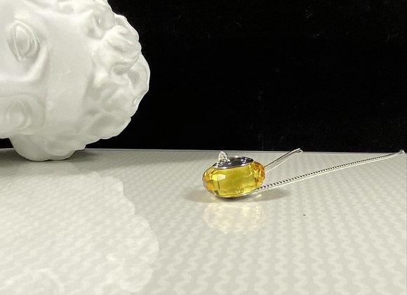 Collar cristal checo citrino