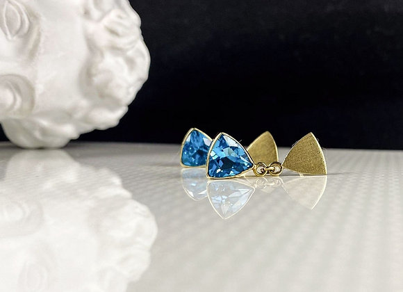 Arete satin blue trillon