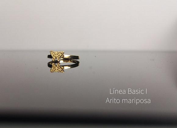 Arito mariposa enchapado