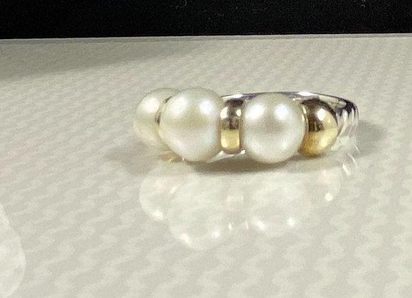 Anillo 3 perlas classic