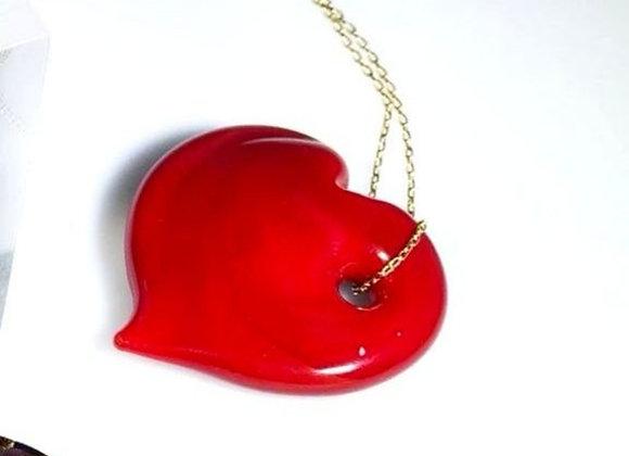 Collar murano corazón