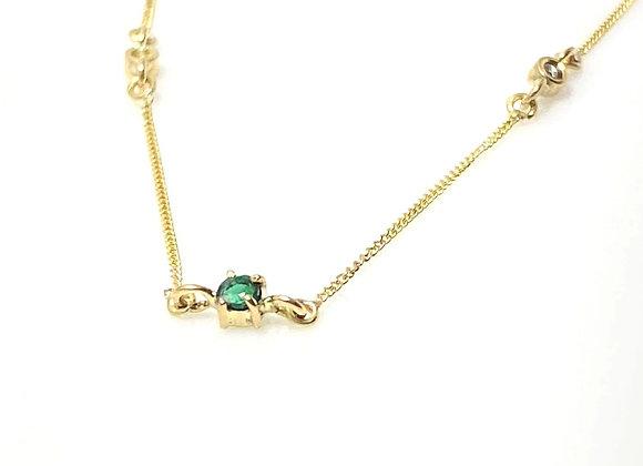 Collar esmeralda y diamantes petit
