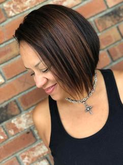 Haircut & color by Gina!