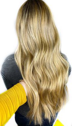 Full highlight & lowlight, gloss, haircut & style by Sara!